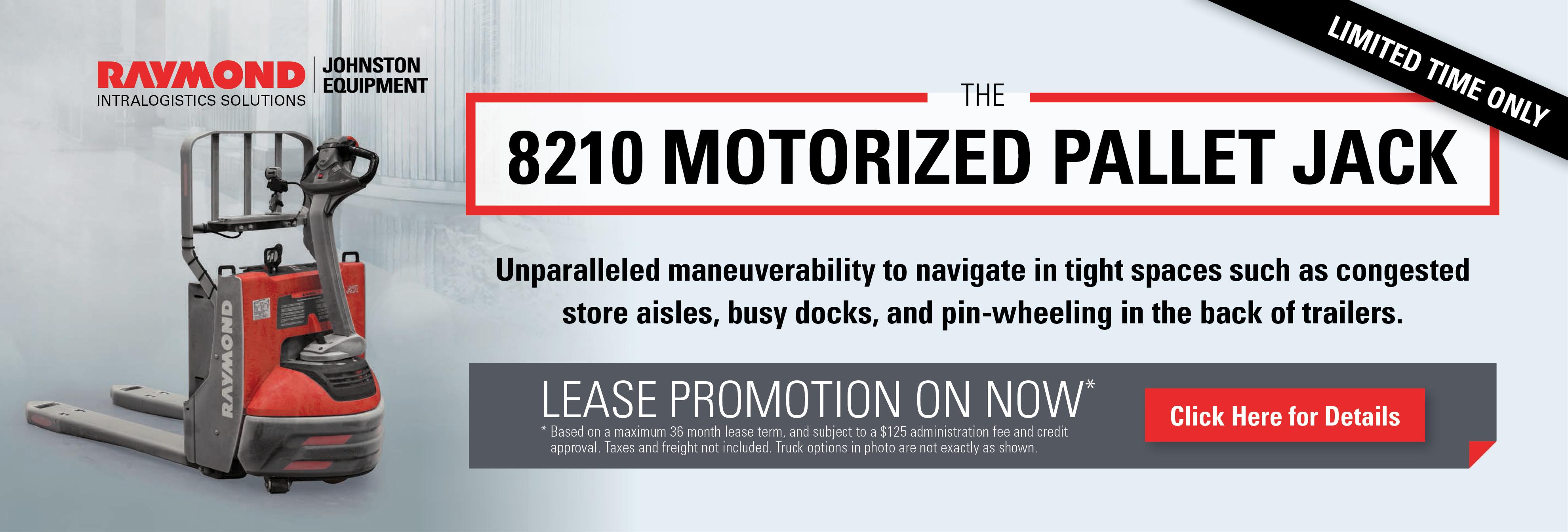 8210 Motorized Pallet Jack Lease Promo