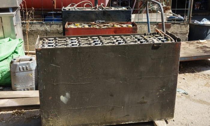 old forklift battery