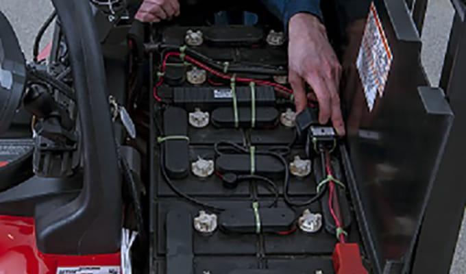 système d'arrosage de la batterie chariot élévateur