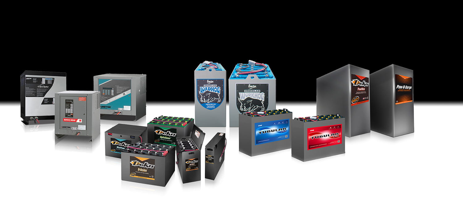 Forklift Batteries, Chargers and Accessories