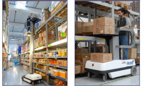 Aerial work platforms for warehouse