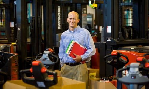 warehouse engineers designing storage space