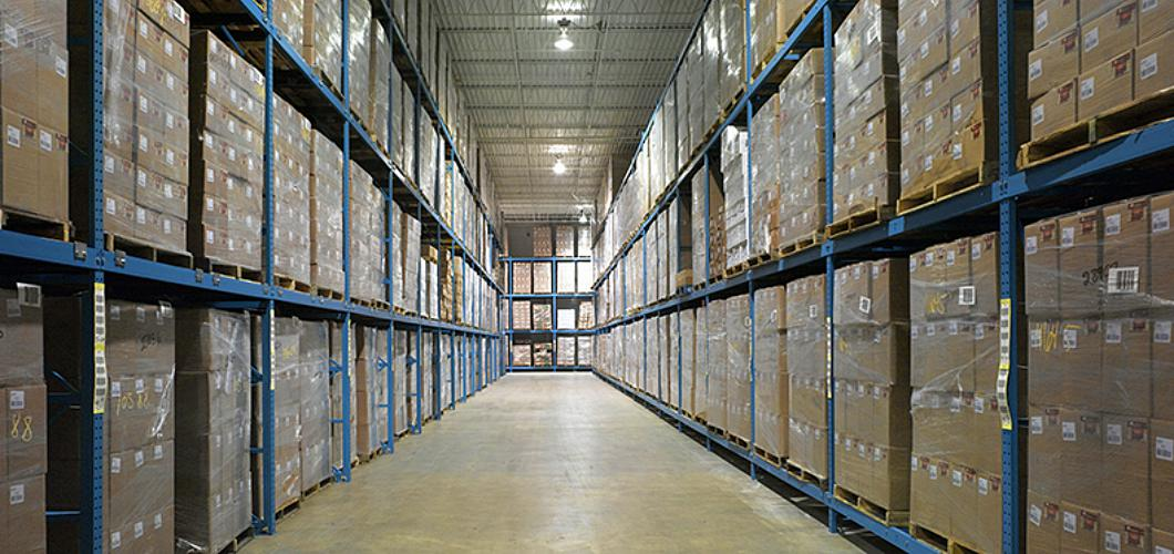 Structural warehouse rack