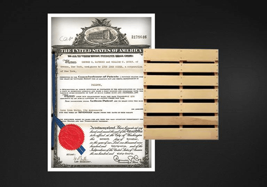 Patent for the double-faced wooden pallet