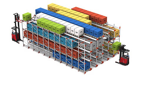 pallet racking systems, automated storage and retrieval system, Radioshuttle, FIFO