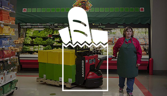 grocery industry, industry solutions, forklift application