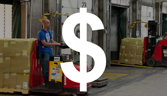 retail industry, industry solutions, forklift application
