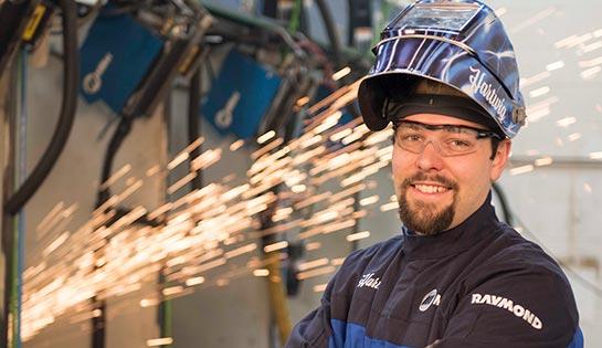 Mark Hartwig, Raymond welding