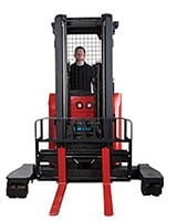 Raymond 7310 4-Directional Reach Truck Long Load Forklift