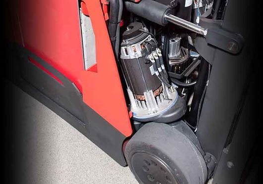 Raymond Stand Up Counterbalanced Fork lift truck maintenance access