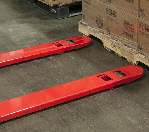 Raymond hand pallet jack trucks with durable powder coat paint finish