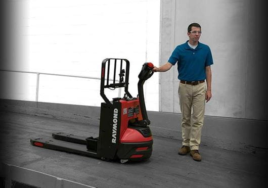 Raymond 8210 walkie pallet jack with antiroll braking