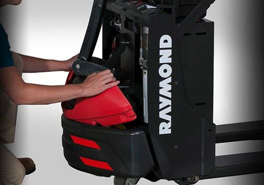 Raymond 8210 walkie pallet truck with removable polymer cover