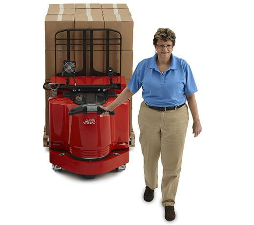 Raymond 8310 walkie pallet truck in operation