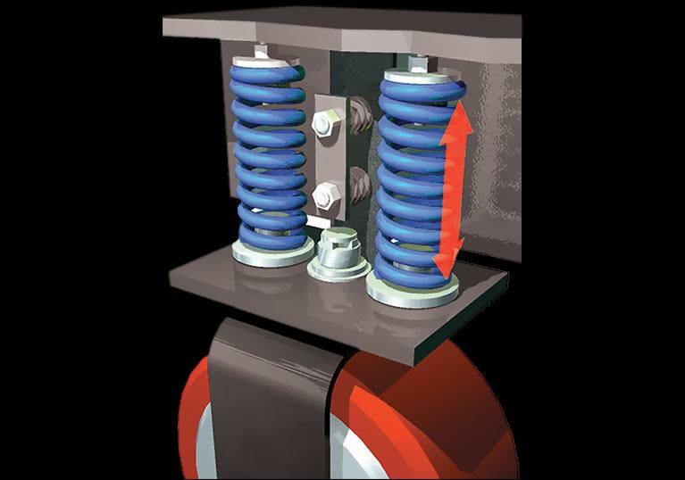 Raymond Reach Truck inertial dampener