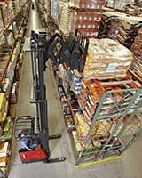 Raymond Deep-Reach Truck in Warehouse