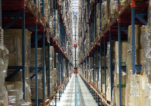 Raymond Transtacker Maximizes Warehouse Storage Density