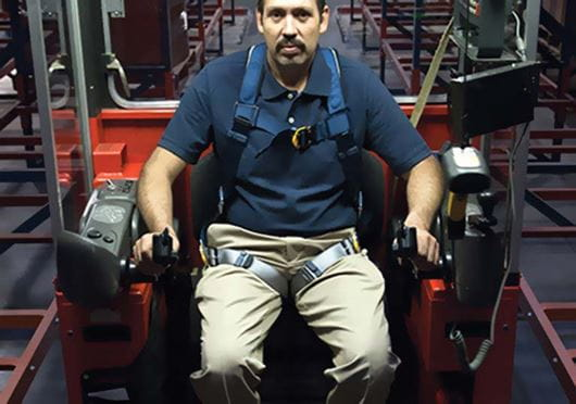Raymond Transtacker Operator in Compartment