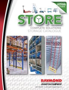 Johnston Equipment Storage Solution Product Catalogue