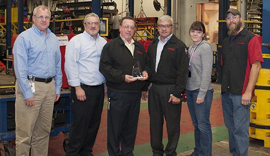 Raymond presented with Toyota President's Award